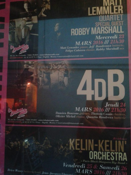 4dB - jazz rock progressif - affiche