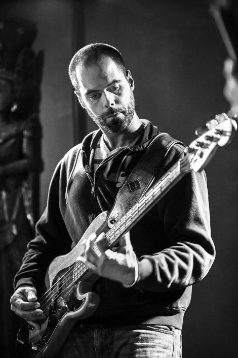 4dB en concert à l'Expression Libre - Nov 2017 - Olivier Michel, bassiste