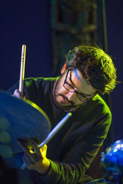 4dB en concert à l'Expression Libre - Nov 2017 - Quenin Rondreux, batteur