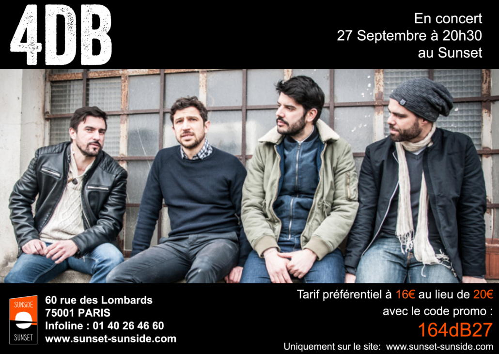 Jazz Rock Fusion - 4dB - Concert au Sunset