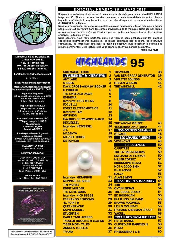 Jazz Rock Progressif: on parle du 4dB dans le Highlands Mag